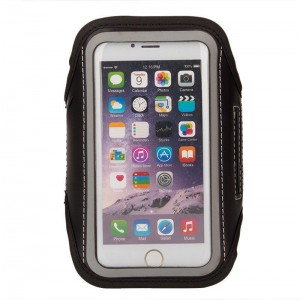 """Tuff-Luv Go-Fit Adjustable Armband for Up to 6""""Smartphones    - Black"""