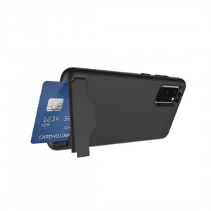 TUFF-LUV Credit Card & Stand case for Samsung Galaxy S20 / 5G Ultra - Black
