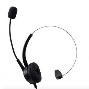 TUFF-LUV VOIP USB Call Centre, Home Phone Head Set for Skype Teams - Black