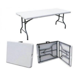 UniQue Folding Rectangle Table - SL-Z182-25 - Lightweight, Sturdy steel frame, Compact fold for easy storing, Handle for easy ca