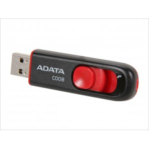 ADATA Classic Series C008 16GB Retractable USB 2.0 Flash Drive - Black