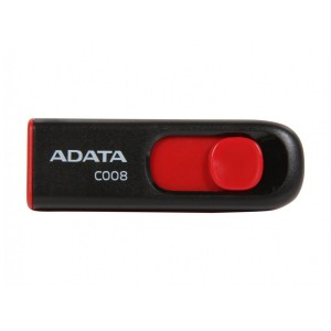 ADATA Classic Series C008 64GB Retractable USB 2.0 Flash Drive - Black