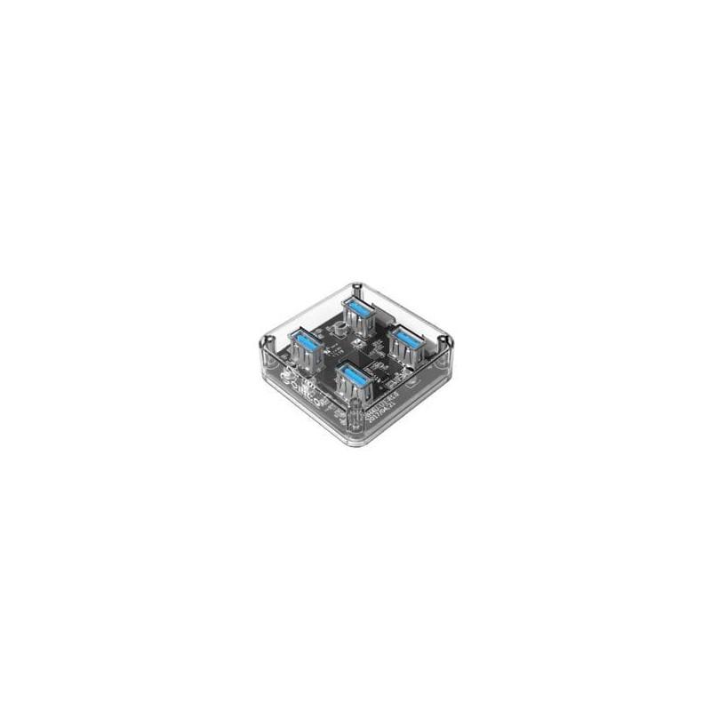 Orico 4 Port USB3.0 Transparent Hub