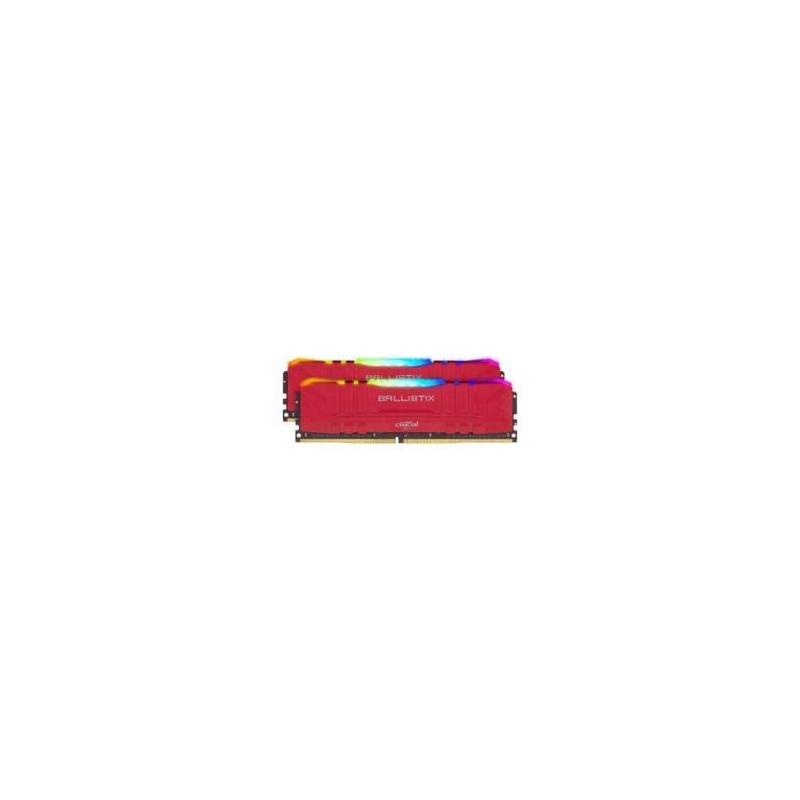 Ballistix RGB 32GBKit (2x16GB) DDR4 3200MHz Desktop Gaming Memory - Red
