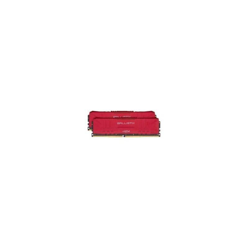 Ballistix 32GBKit (2x16GB) DDR4 3200MHz Desktop Gaming Memory - Red