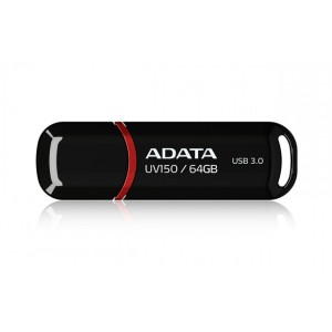 ADATA DashDrive UV150 64GB USB 3.0 Flash Drive - Black