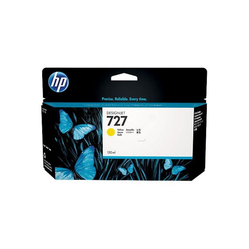 HP 727 130-ml Yellow DesignJet Ink Cartridge For T920 and T1500