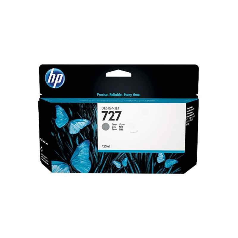 HP 727 130-ml Gray DesignJet Ink Cartridge For T920 and T1500