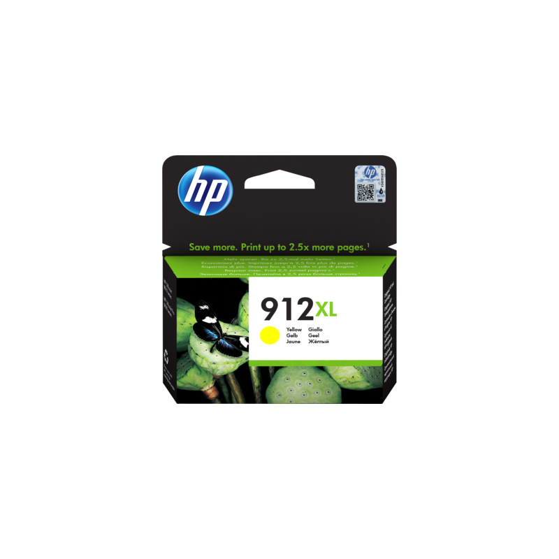 HP 912XL High Yield Yellow Ink Cartridge For Officejet Pro 8000 Series