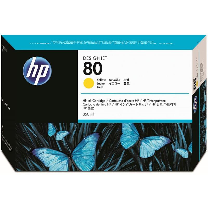 HP 80 350-ml Yellow DesignJet Ink Cartridge