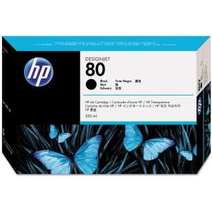 HP 80 350-ml Black DesignJet Ink Cartridge