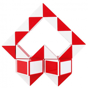 Magnetic Snake Cube (36pc) - Red & White