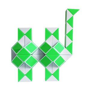 Magnetic Snake Cube (36pc) - Green & White