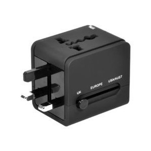 Port Connect Dual USB Port Universal Travel Adapter