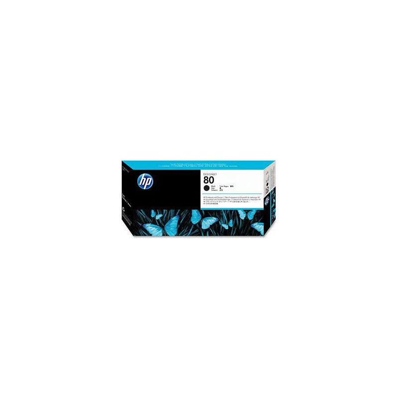 HP 80 Black DesignJet Printhead and Printhead Cleaner