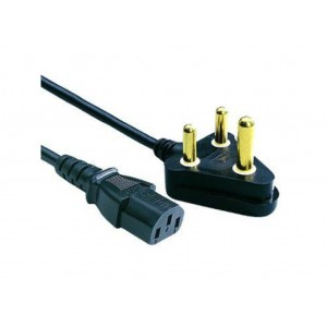 1.8m Kettle Cord Power Cable with 3-prong SA Plug