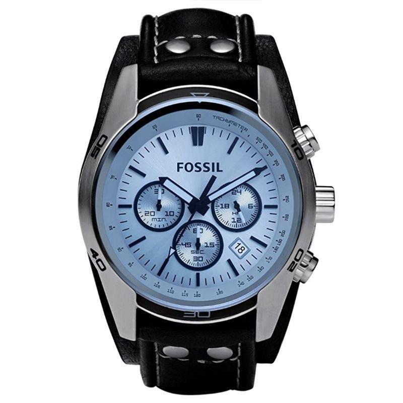 Fossil Men's Coachman Quartz Stainless Steel and Leather Watch