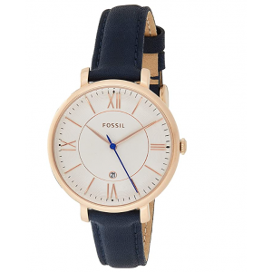 Fossil Women's Jacqueline Quartz Stainless Steel and Leather Watch - Rose Gold
