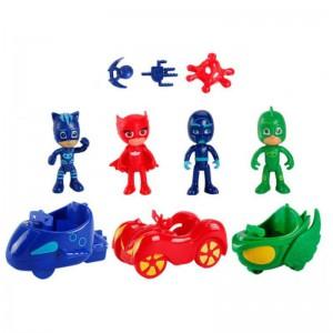 PJ Mask figurines and vehicles