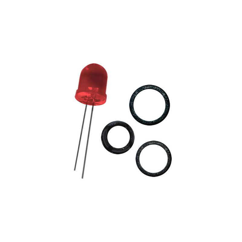 LED 10mm Hi Brite Red / Each