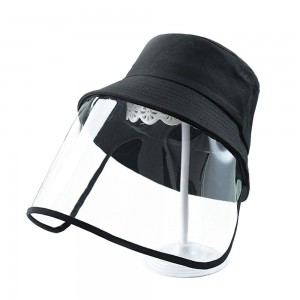 Tuff-Luv Kids Sunhat and Face Shield - Black