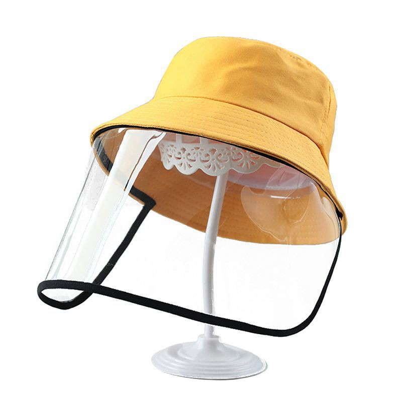 Tuff-Luv Kids Sunhat and Face Shield - Yellow