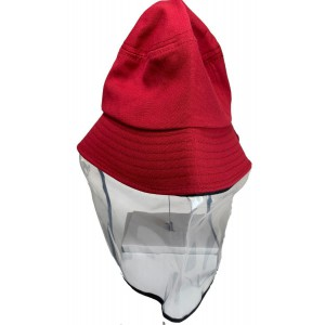 Tuff-Luv Kids Sunhat and Face Shield - Red