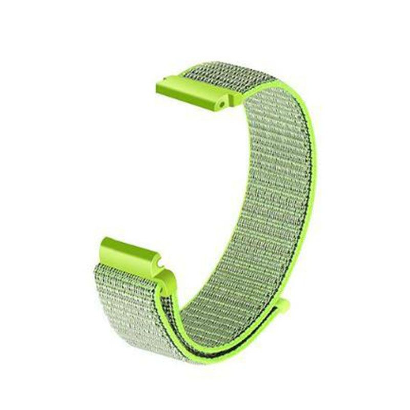 Fitbit Versa Woven Nylon Watch Strap -Light Green