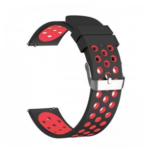 Fitbit Versa Silicone Watch Strap -Black and Red