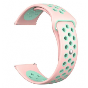 Fitbit Versa Silicone Watch Strap -Light Pink and Turquoise