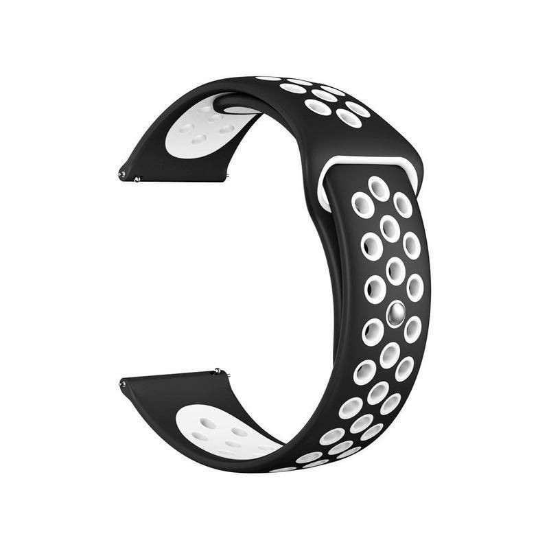Fitbit Versa Silicone Watch Strap -Black and White