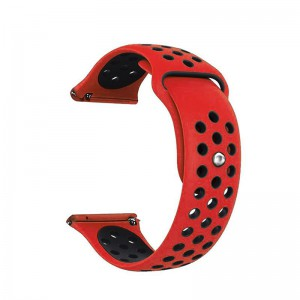 Fitbit Versa Silicone Watch Strap -Red and Black