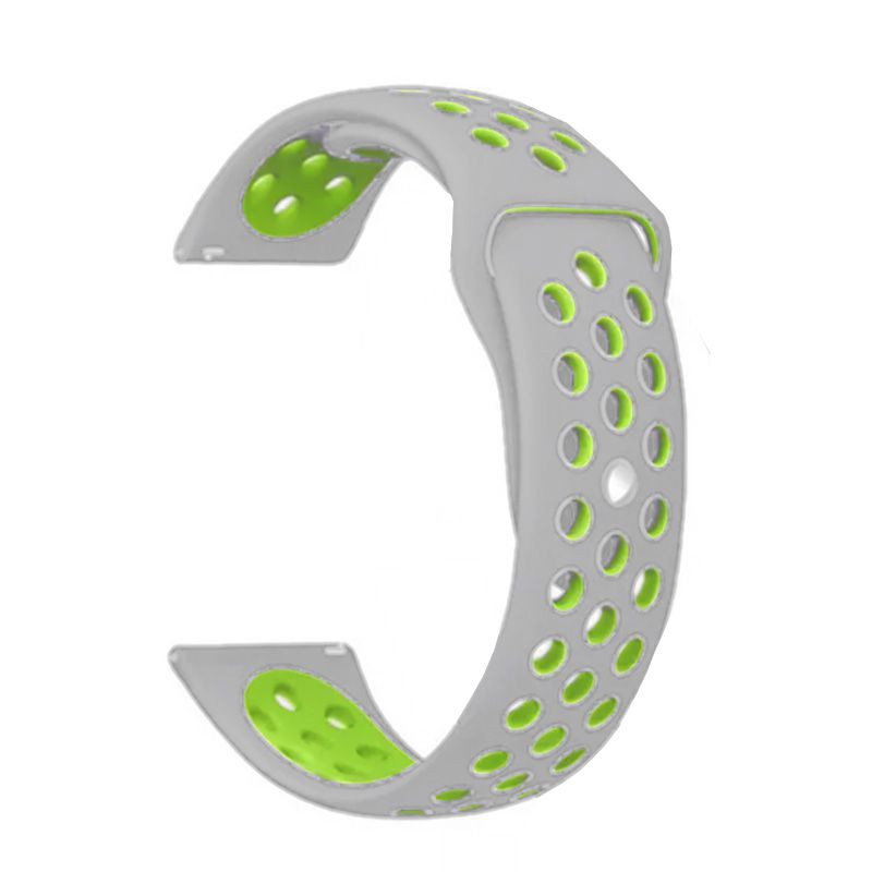 Fitbit Versa Silicone Watch Strap -Grey and Light Green