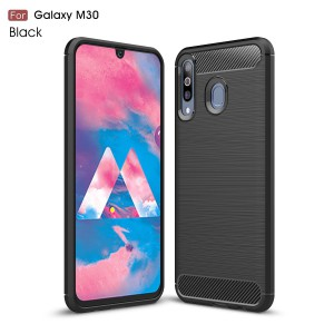 TUFF-LUV Carbon Effect Armour case for Samsung Galaxy M30 - Black (5055205296319)