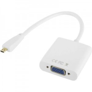TUFF-LUV Full HD 1080P Micro HDMI Male to VGA Female Video Adapter Cable with Audio Cable