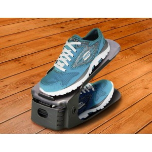 Shoe Organizer - Set of 6 - Grey