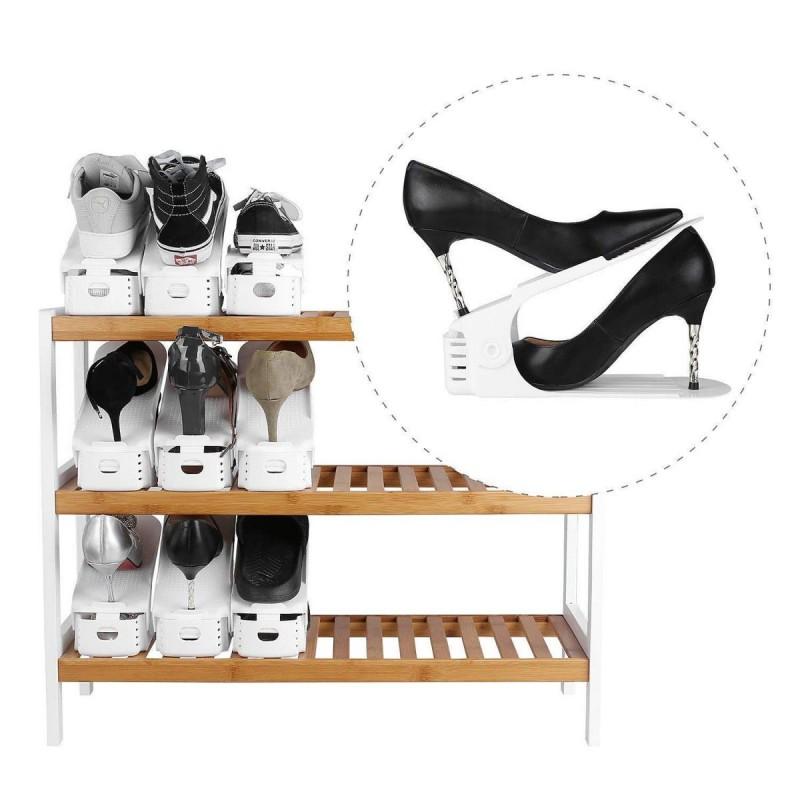 Shoe Organizer - Set of 6 - White