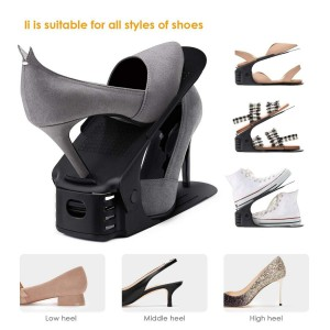 Fine Living Shoe Organizer - Set of 6 - Black