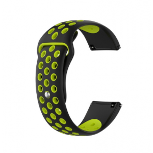 Fitbit Versa Silicone Watch Strap -Black and Green
