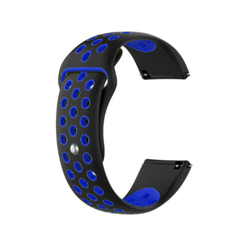 Fitbit Versa Silicone Watch Strap -Black and Blue