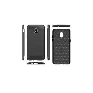 TUFF-LUV Carbon Fibre Style Shockproof Case Samsung Galaxy J3 (2018) - Black