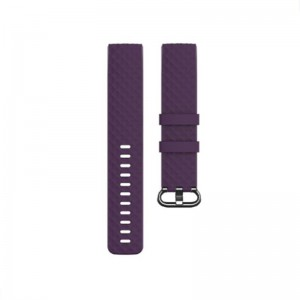 Fitbit Charge 3 Silicone Watch Strap with Plastic Buckle (Large) -Purple