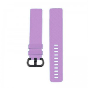 Fitbit Charge 3 Silicone Watch Strap (Large) -Light Purple