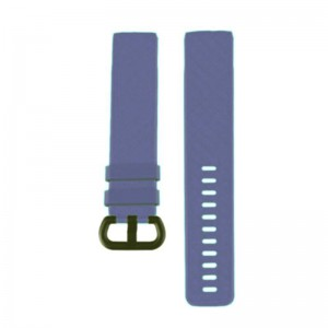 Fitbit Charge 3 Silicone Watch Strap with Plastic Buckle (Large) -Cyber Grape