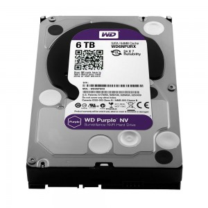 "WD Purple NV WD6NPURX 6TB IntelliPower 64MB Cache SATA 6.0Gb/s 3.5"" Surveillance Hard Drive Bare Drive"