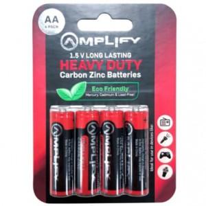 Amplify Heavy Duty AA Carbon Zinc 4 pack Batteries
