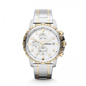 Fossil Men's Dean Chronograph Stainless Steel Watch - Silver/Gold