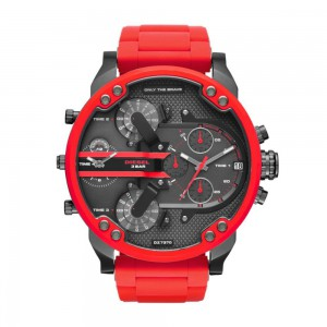 Diesel Men's Mr Daddy 2.0 Stainless Steel Chronograph Quartz Watch - Red/Black