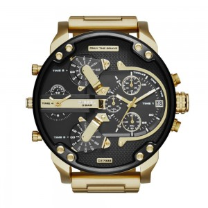 Diesel Men's Mr Daddy 2.0 Stainless Steel Chronograph Quartz Watch - Black/Gold