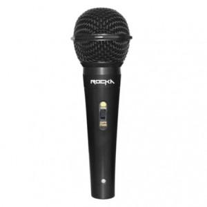 Rocka Master Series Metal Wired Dynamic Vocal Microphone - Black